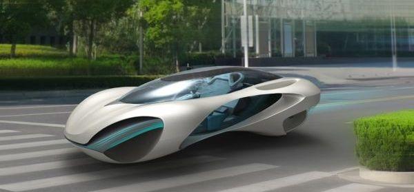 Futurystyczne kształty samochodu wzorowane na naturze