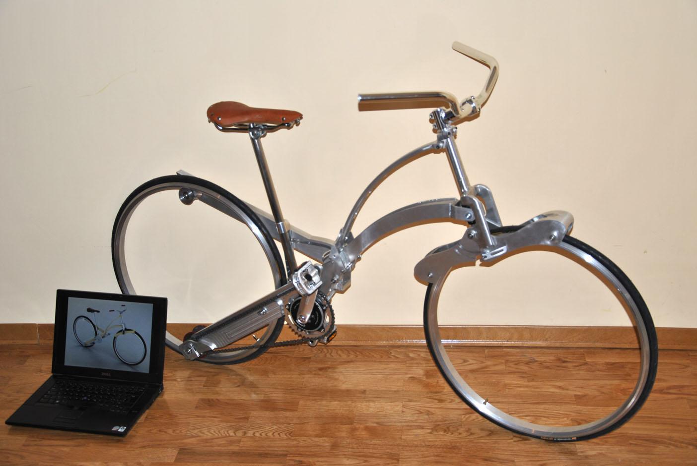 Rower składany jak parasol
