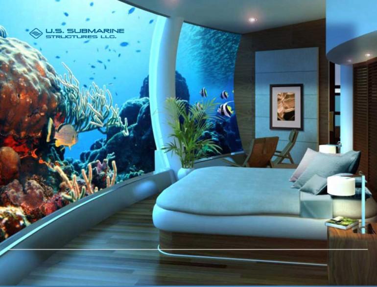 Dom z widokiem na dno oceanu