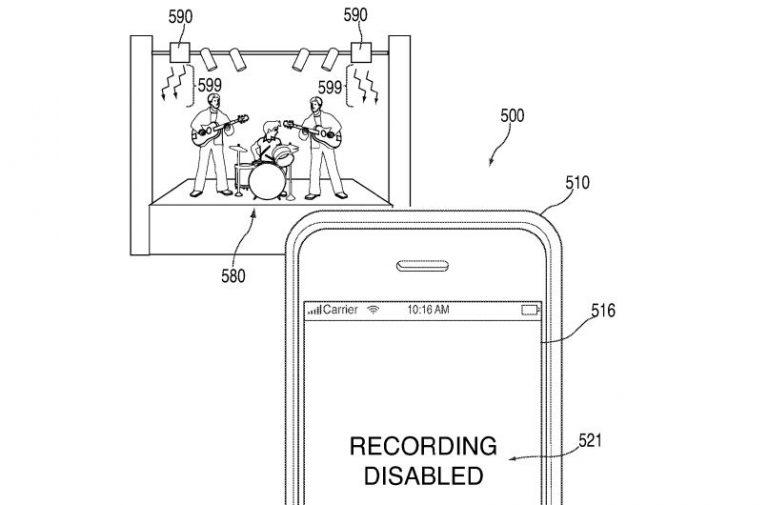 Apple pantentuje urządzenie blokujące zdalnie smartfonowe kamery