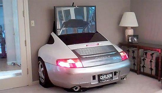 Inne rodzaje Nowoczesny i stylowy salon - samochody ze złomu w naszym domu JS84