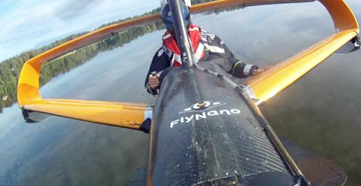 Latająca łódź FlyNano wykonała pierwszy lot próbny nad jeziorem